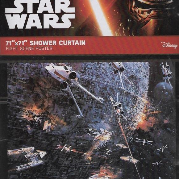 Star Wars Fight Scene Shower Curtain NEW